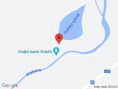 Vodní hamr Dobřív map
