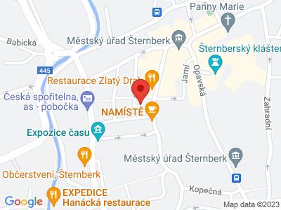 Šternberk map