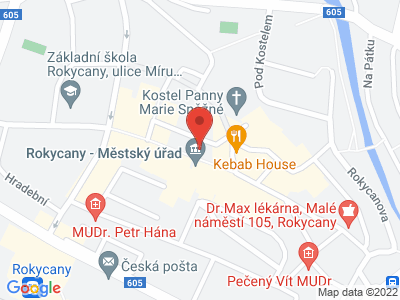 Rokycany map
