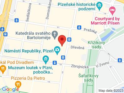 Plzeň - západočeská metropole map