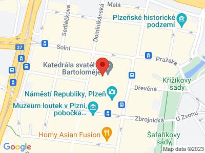 Katedrála sv. Bartoloměje Plzeň map