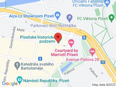 Plzeňské podzemí map