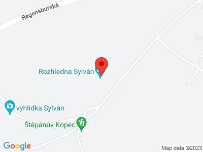 Rozhledna Sylván v Plzni map