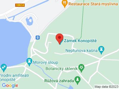 Konopiště (zámek) map