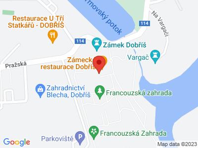 Dobříš (zámek) map