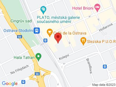 Ostrava map