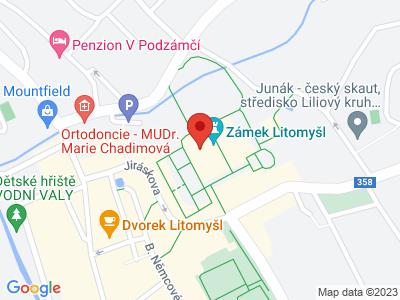 Litomyšl (zámek) map