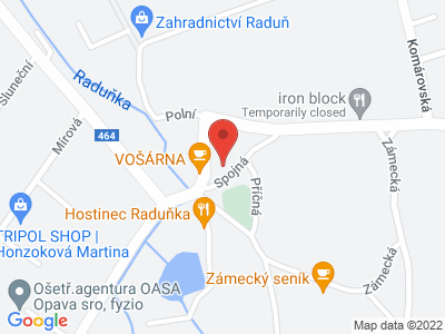 Raduň (zámek) map