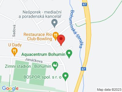 Vyhlídková věž vodojemu v Bohumíně map