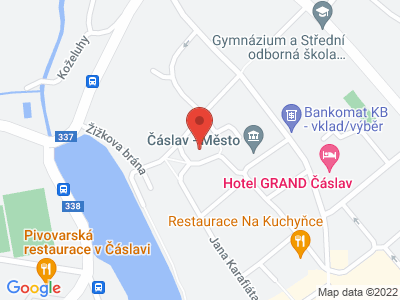 Church of St. Peter and Paul in Caslav map