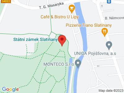 Slatiňany (zámek) map