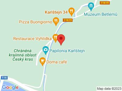 Karlštejn (hrad) map