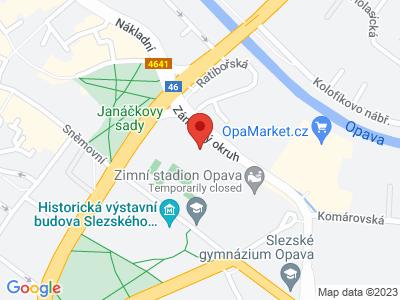 Opava - Zlatníky - Nový Dvůr - Opava map