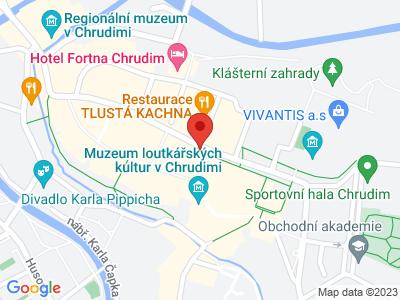 Chrudim map