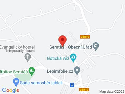 Semtěš (tvrz) map