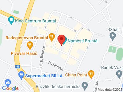 Bruntál map