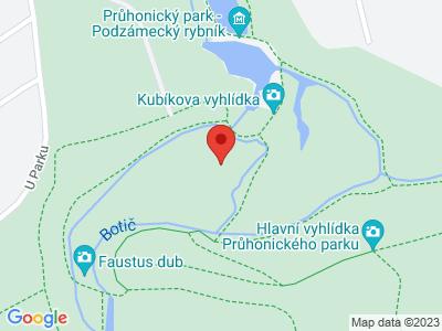 Průhonický park map