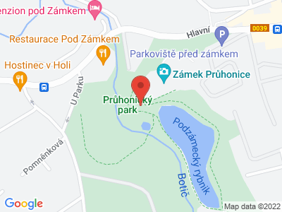 Průhonice (zámek) map