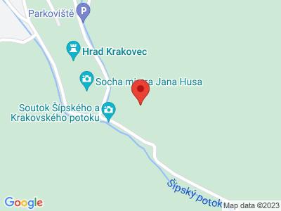 Krakovec (hrad) map