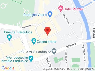 Pardubice - město perníku map