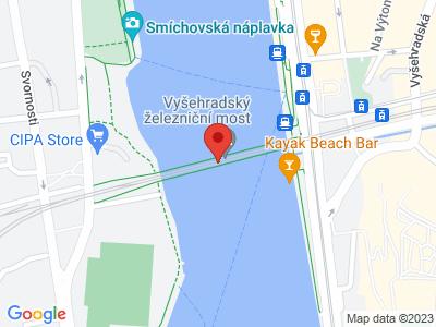 Vyšehradský železniční most Praha map