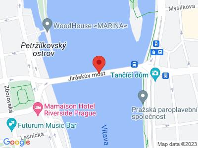 Jiráskův most Praha map