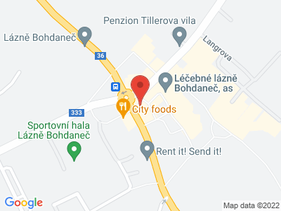 Naučná stezka Gočárův okruh map