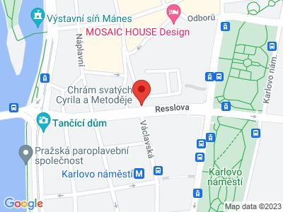 Kostel sv. Cyrila a Metoděje Praha map