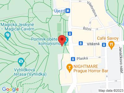 Památník obětem komunismu Praha map