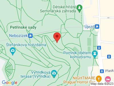 Petřínské sady Praha map