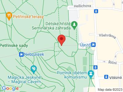 Lanovka na Petřín Praha map