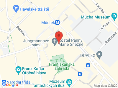 Kirche Unserer Lieben Frau vom Schnee Prag map
