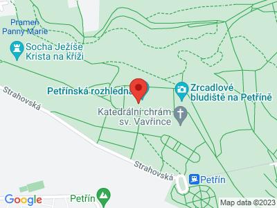 Petřín – nejromantičtější místo v Praze map