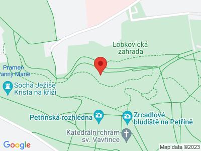 Petřínská rozhledna v Praze map