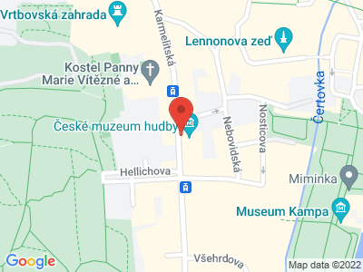 The Czech Museum of Music map
