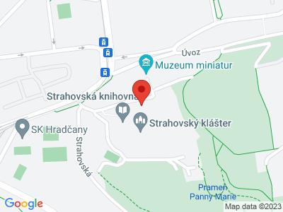 Strahov-Kloster Prag map