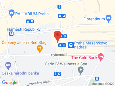 Mineralia Praha map