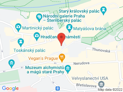 Praha - Hradčany map