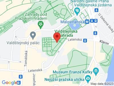 Valdštejnská zahrada Praha map