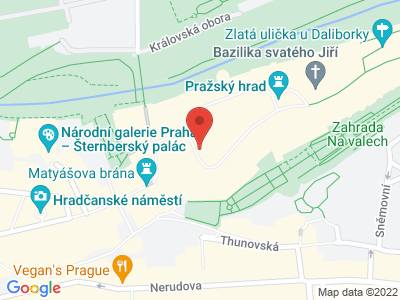 Pražský hrad (hrad) map