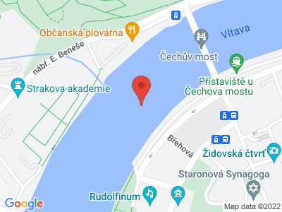 Praha - lodí do ZOO Troja map