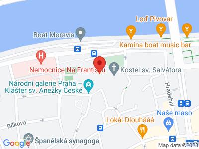 St. Agnes Kloster in Prag map
