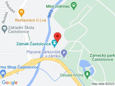 Častolovice (zámek) map