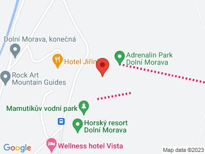 Fun park Dolní Morava map