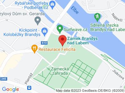 Brandýs nad Labem (zámek) map