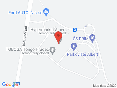 Tongo Hradec Králové map
