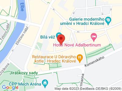 Katedrála sv. Ducha Hradec Králové map