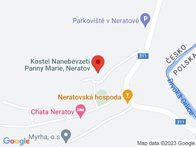 Kostel Nanebevzetí Panny Marie Neratov map