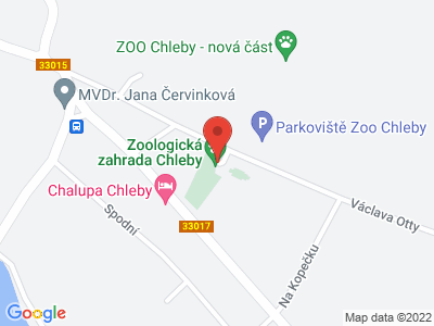 ZOO Chleby map
