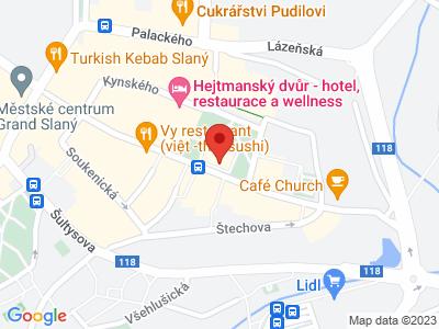 Slaný - royal town map